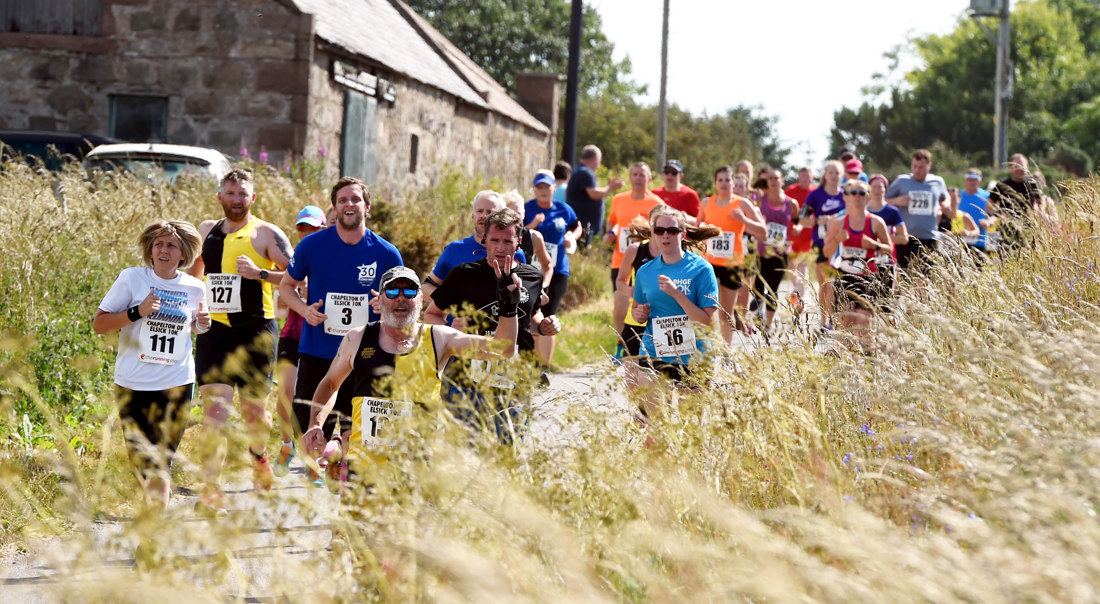 The first Chapelton 10K race on the Elsick estate