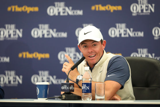 Rory McIlroy speaking ahead of this week's Open getting under way.