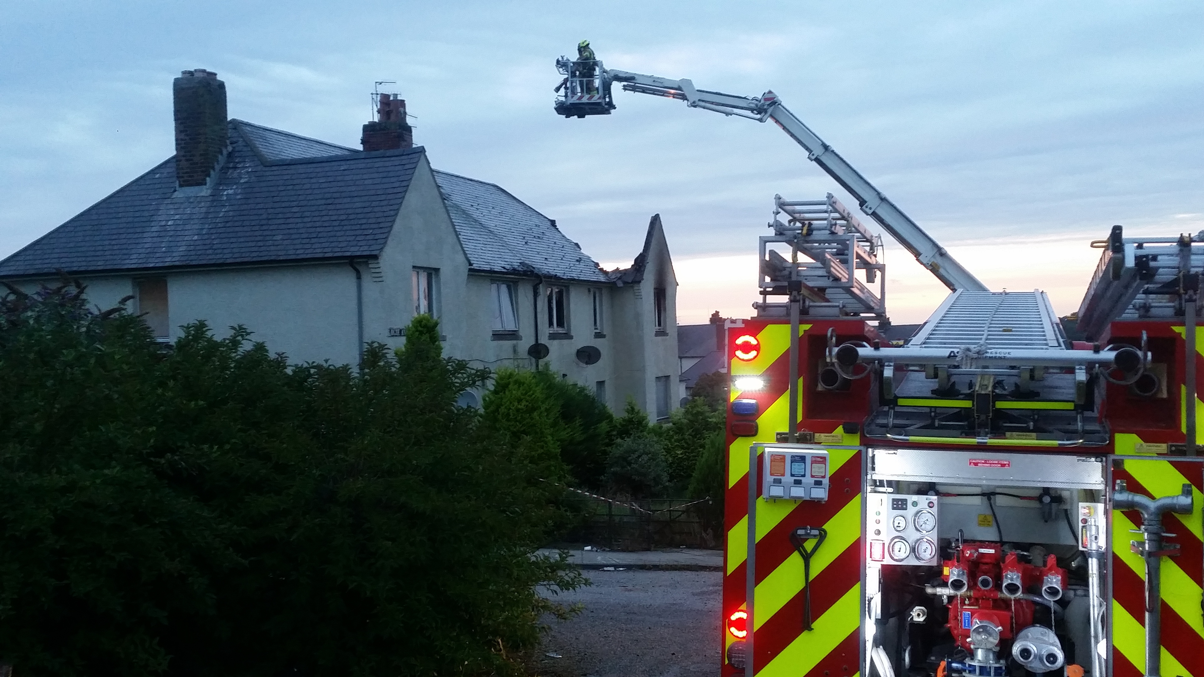The fire took place on Logie Avenue.