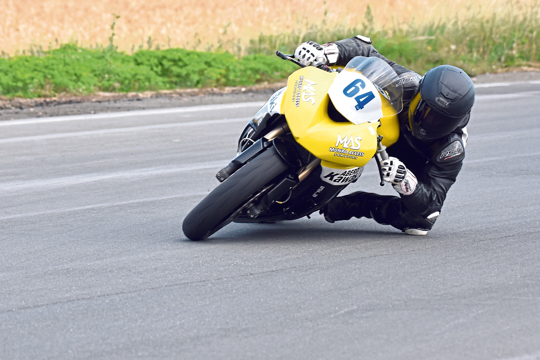 Insch rider Sam Munro has long-term aims of reaching the British Superbike Championship. Picture: Jennifer Charlton.