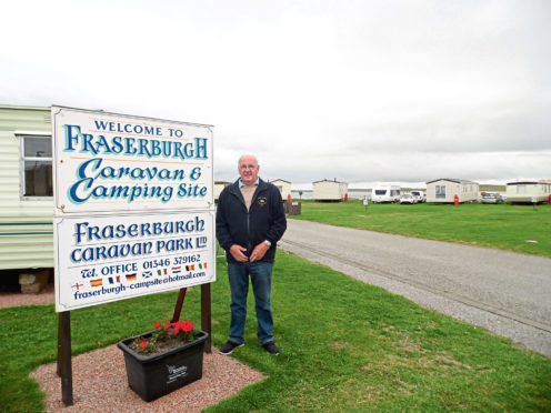 Fraserburgh Caravan Park co-owner Jim Clark.