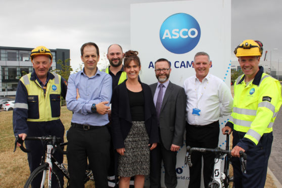 From left, Davy Thomson, Stephen Mundie, Anthony Welsh, Andrea Canale, Julian Foley, James Feeney and Peter Watson