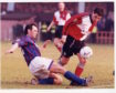Alan Hercher in action for Caley Thistle against Rangers in 1996.