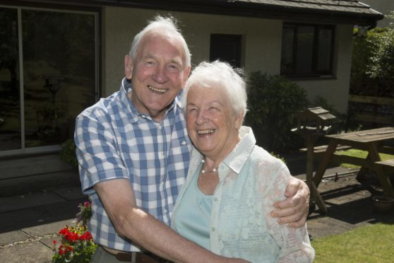 George and Evelyn Bruce have been wed for 60 years.