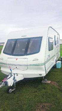 The caravan that was stolen from Belladrum.