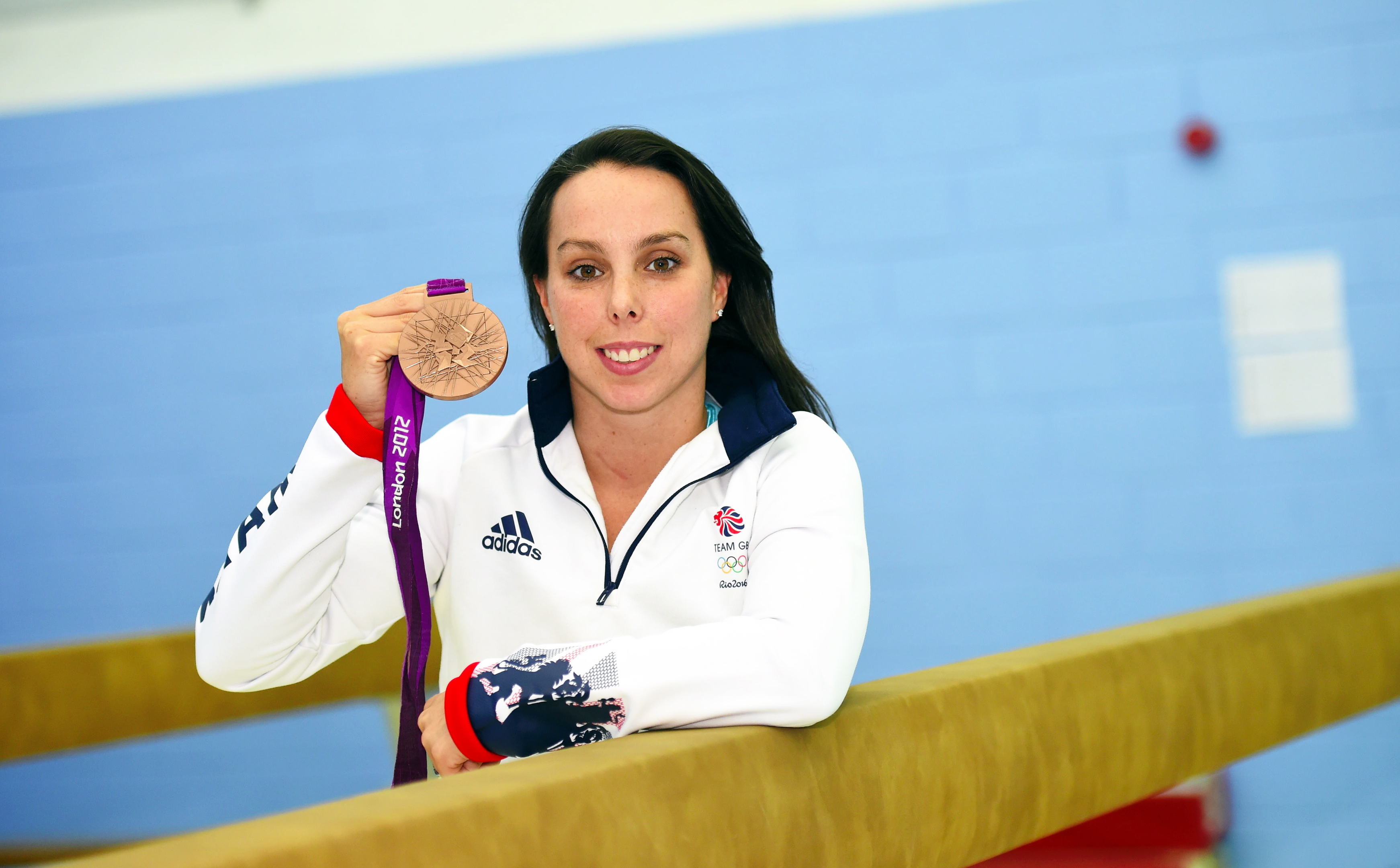 Name plaque reveal and a selection of City of Aberdeen Gymnastics Club's (COAG) gymnasts performing alongside Beth Tweddle at the Alex Collie Gymnastics Performance Centre, Cardens Knowe, Bridge of Don. Pictured is Beth Tweddle MBE, Olympic, World and European medallist. 20/08/18 Picture by HEATHER FOWLIE