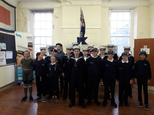 Liam Grant, centre, is helping the Bridge of Don Sea Cadets raise money for a new minibus.