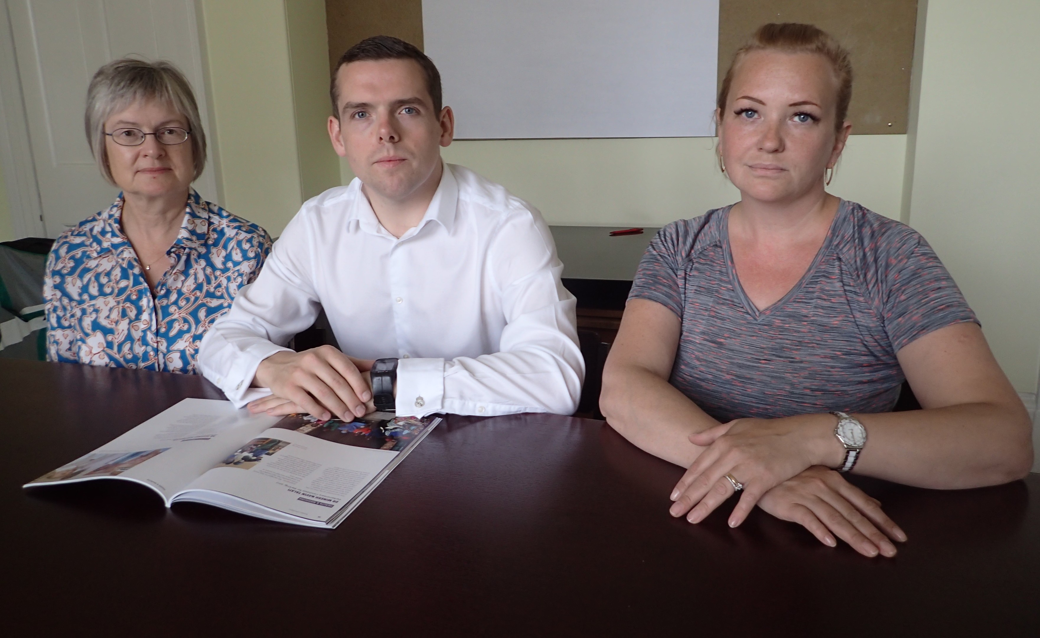 Forres councillor Claire Feaver, Moray MP Douglas Ross and Elgin City North councillor Maria McLean are concerned about firms in Moray missing out on public sector contracts.
