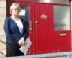 Forres councillor Claire Feaver at Towerview.