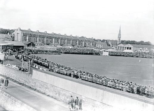 Scotland v Australia at Mannofield, September 1948.
