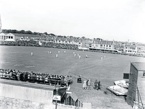 SCOTLAND V. AUSTRALIA at Mannofield, September 1948.