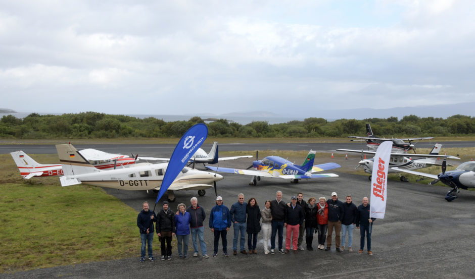 A party of six German aircrafts touched down on Skye.