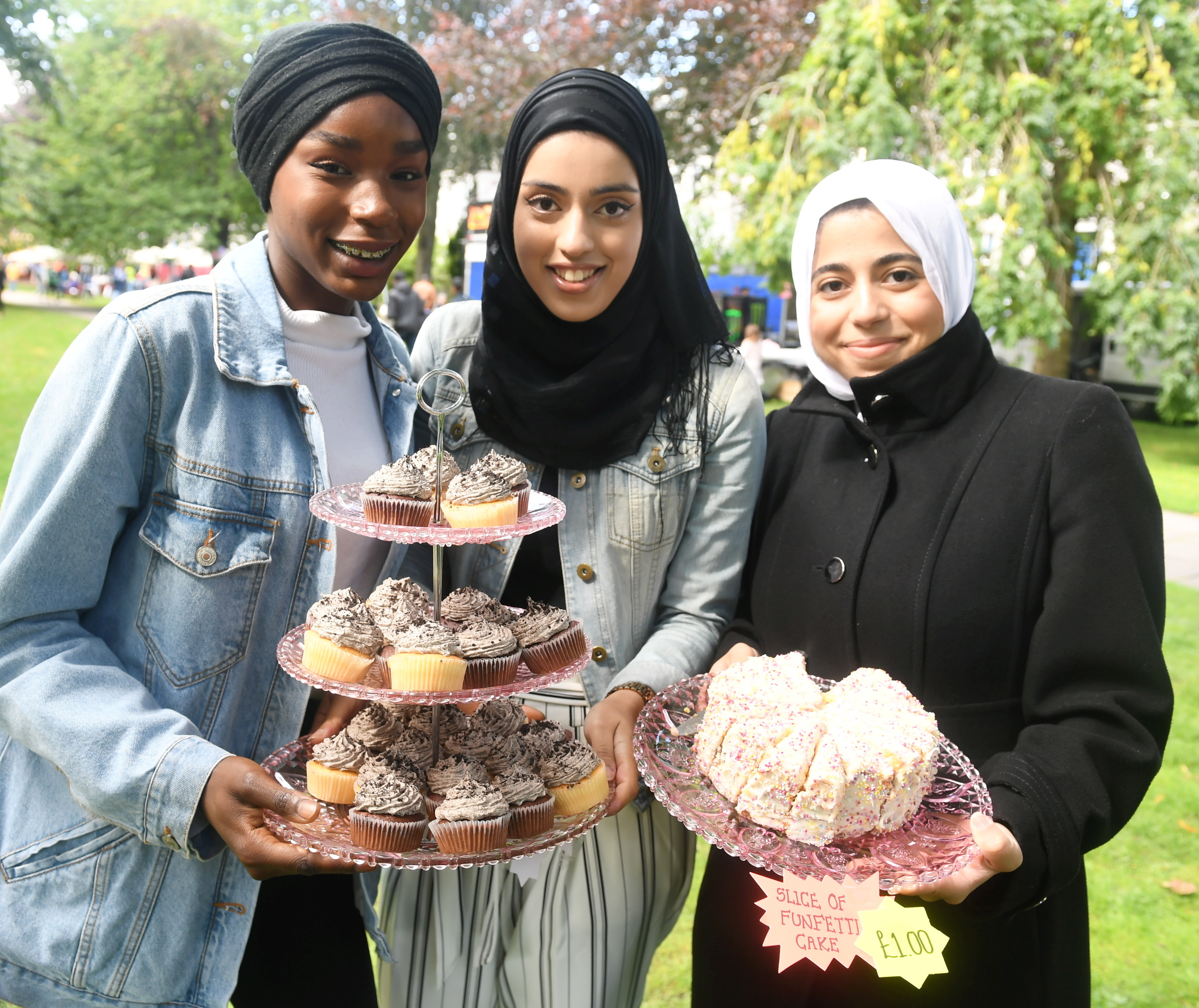 Rahinat Muhammad, Nida Wani and Fatima Ghanduri.