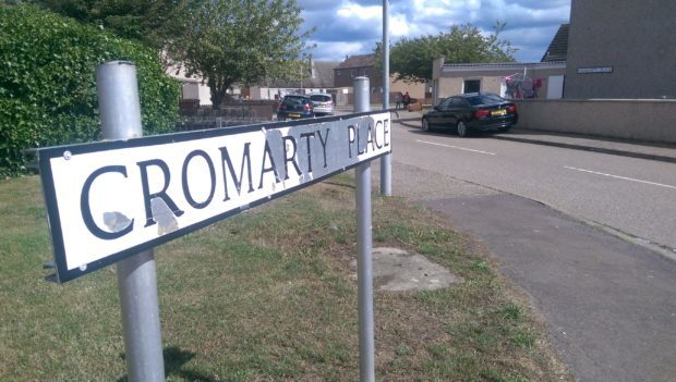 Police raided a home at Cromarty Place in Lossiemouth.