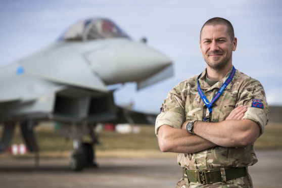 Sgt Innes Manson will attempt to pull a Typhoon jet 100ft.