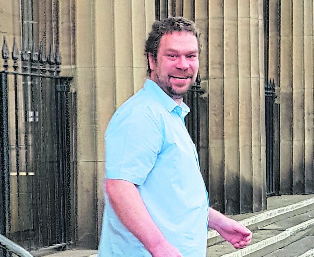 Bruce Ross leaving Perth Sheriff Court.