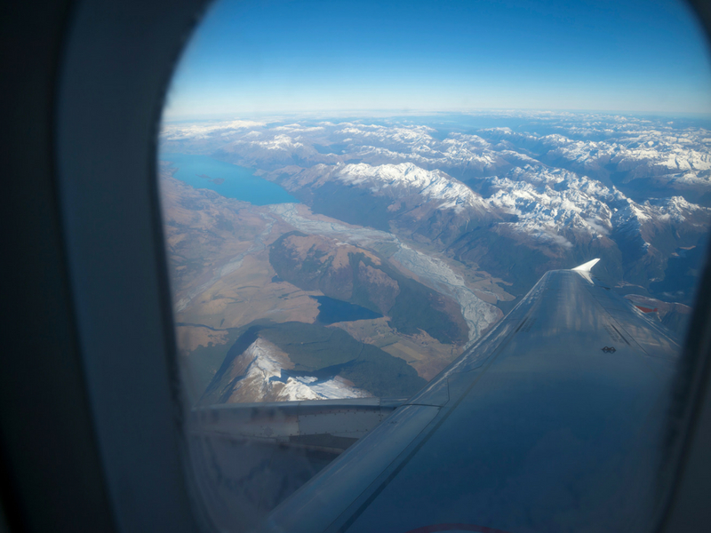 New Zealand - View from the plane