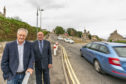 Heldon and Laich councillor John Cowe and Lossiemouth Community Council chairman Mike Mulholland at the School Brae junction.