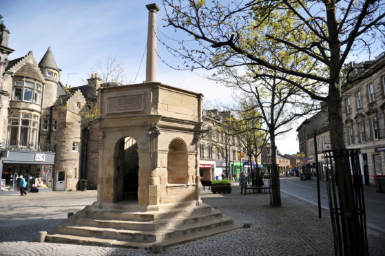 The Muckle Cross in Elgin was refurbished as part of the projects.