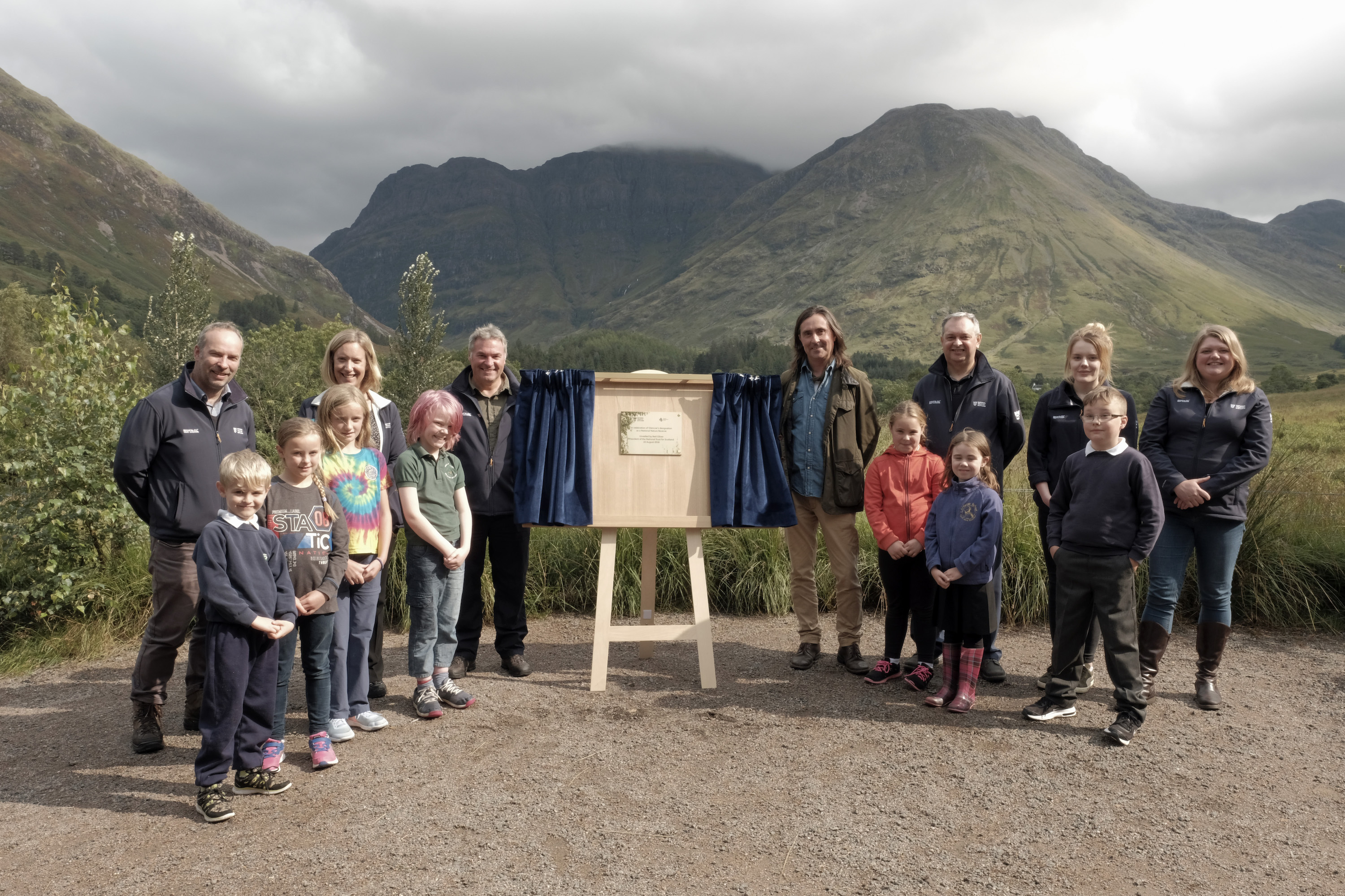 Neil Oliver visited Glencoe to recognise it as a National Nature Reserve