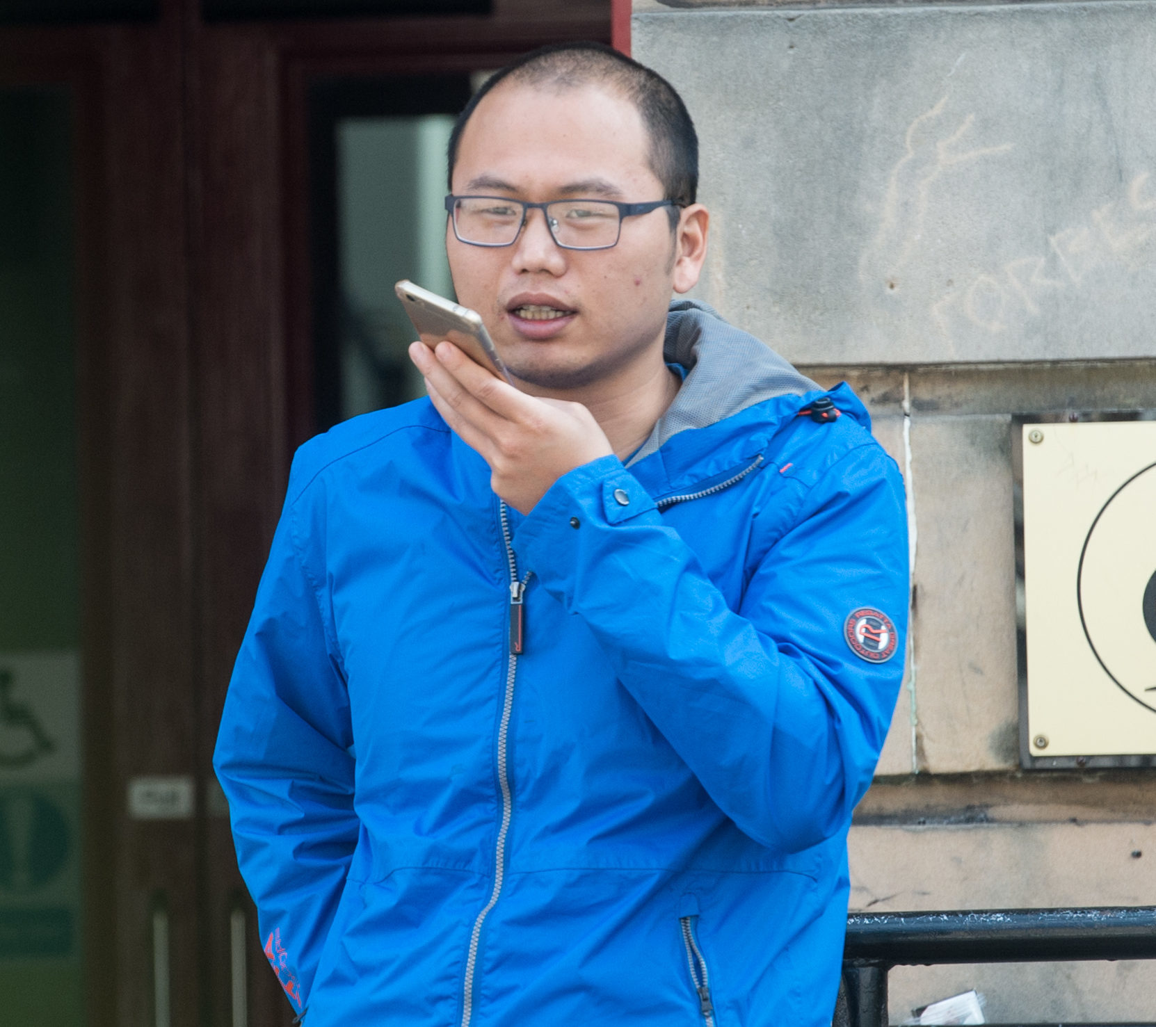Mr Cheng Yulee is pictured leaving Elgin Sheriff Court