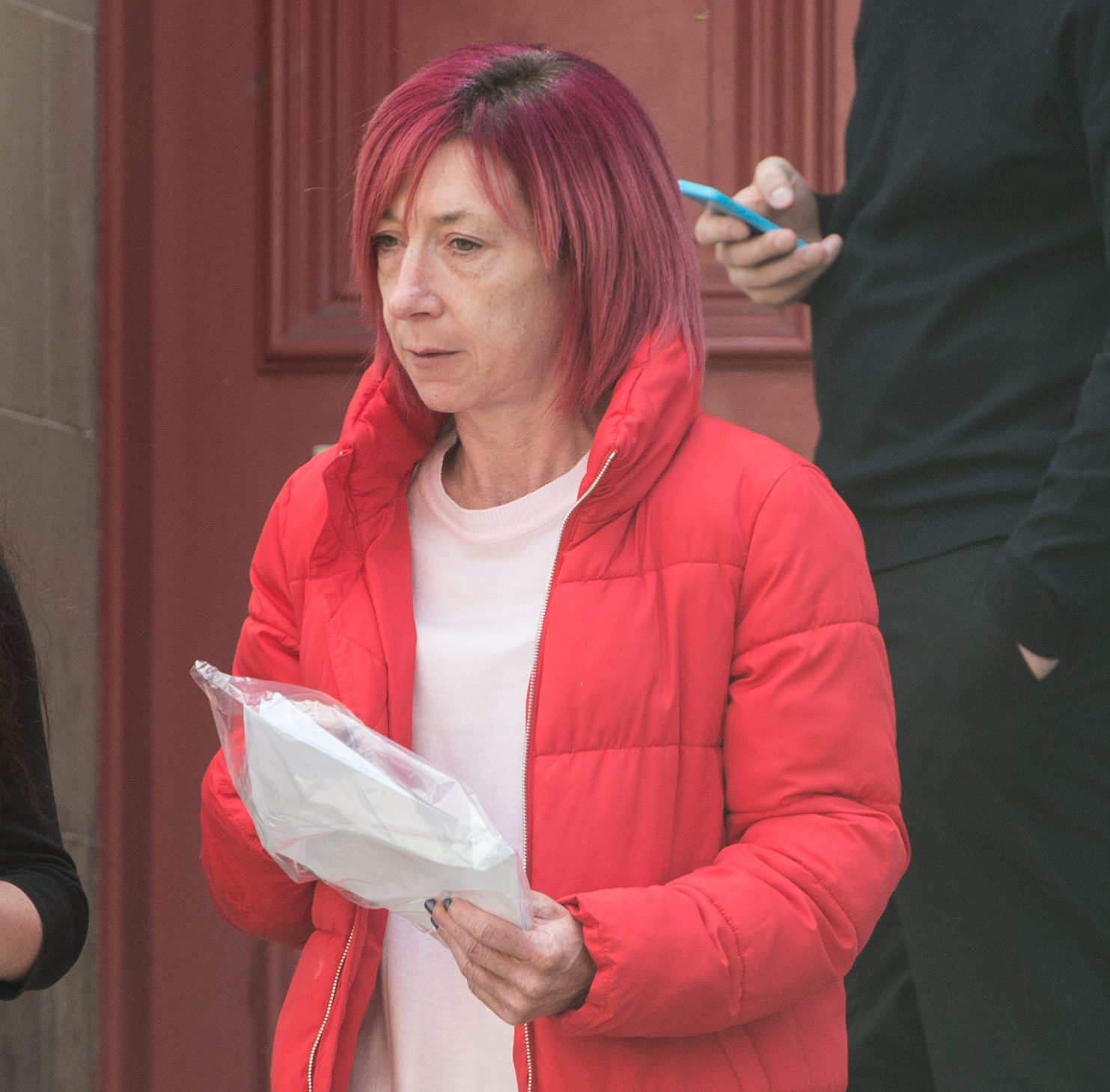 Julie Nicoll is pictured leaving Elgin Sheriff Court