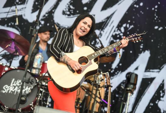 Lucy Spraggan performing at Belladrum