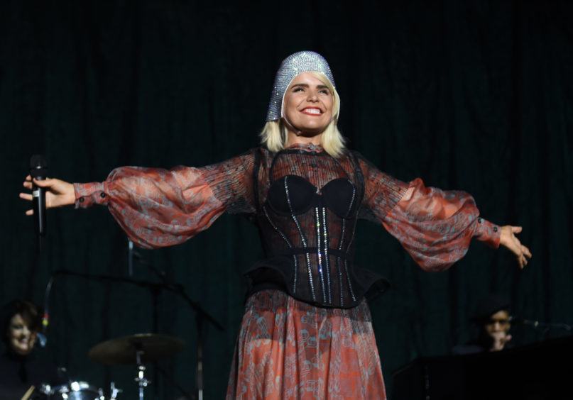 Paloma Faith performs on the Garden stage.