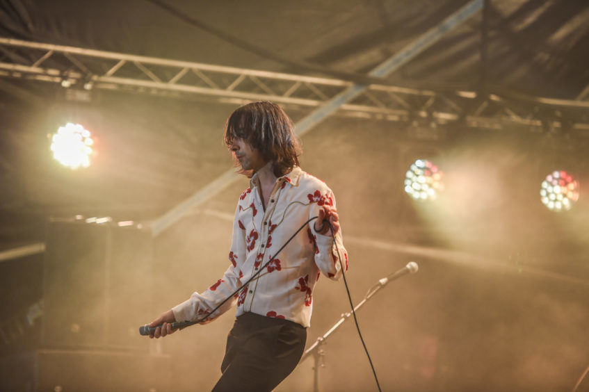 Primal Scream perform on the Garden stage