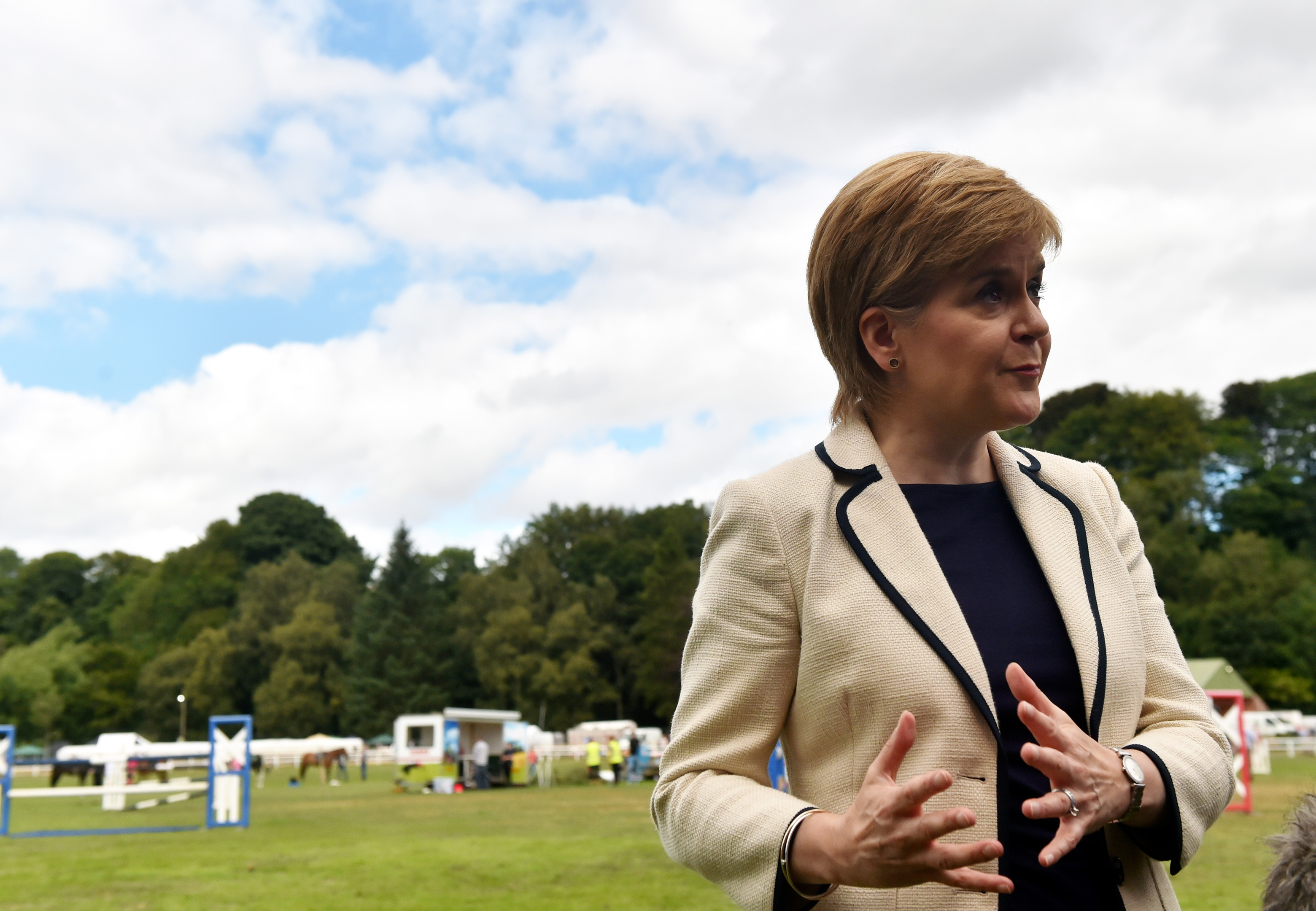 Nicola Sturgeon was urged to back the farmers. (Picture by Scott Baxter)