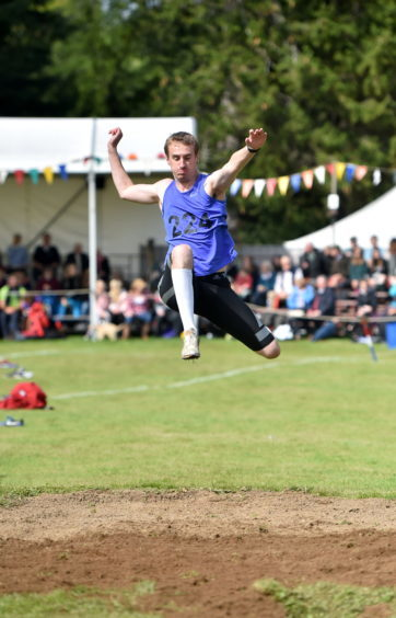 Athletics at the Lonach Highland Gathering.