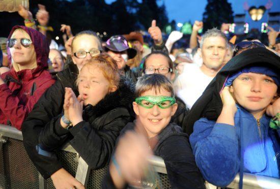 Fans enjoy the Amy Macdonald headline act late on Friday night.