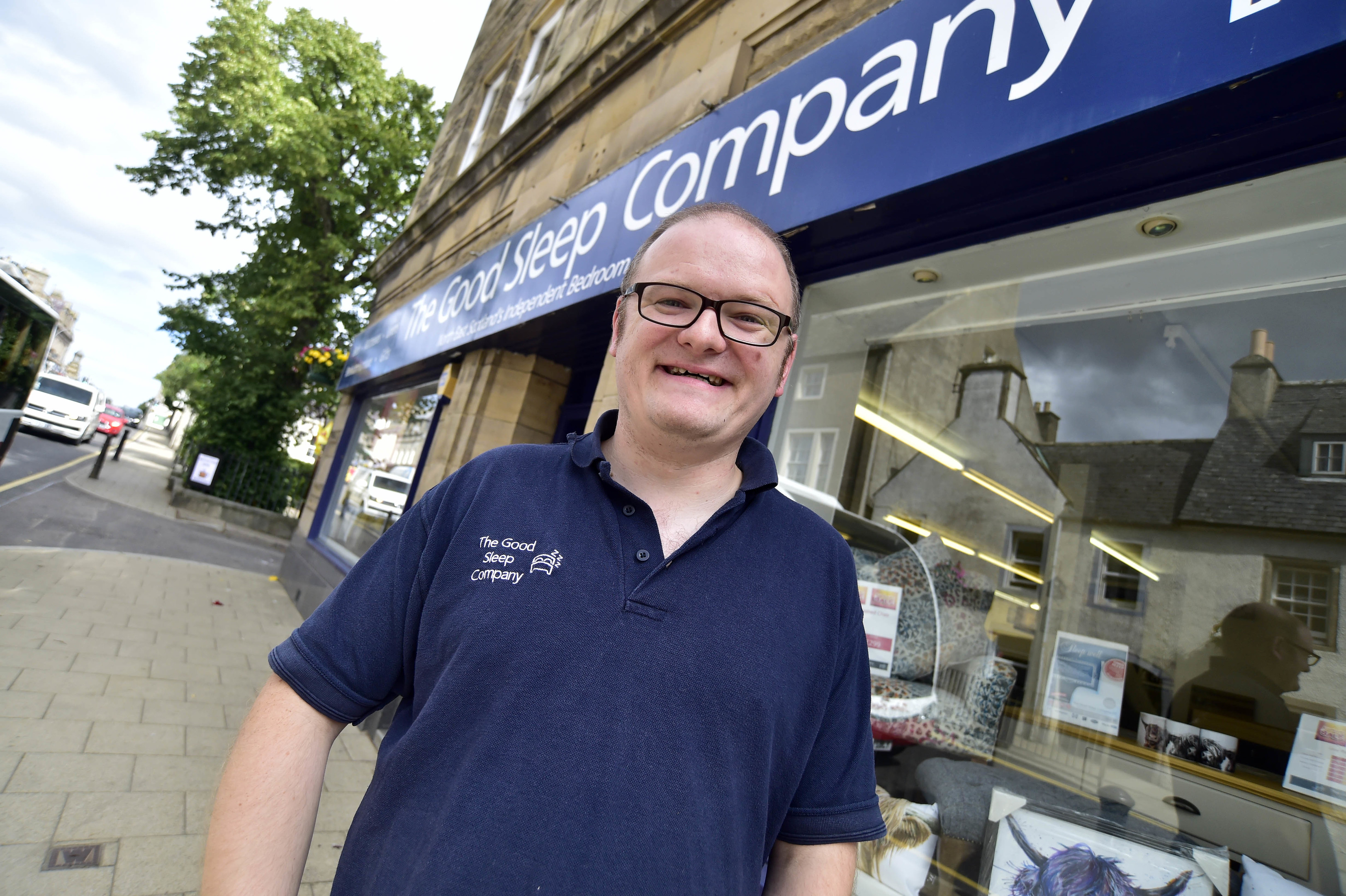 Scott Birnie runs the Good Sleep Company bed shop on the High Street