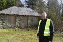 Aden Park landscape officer Jack Grant at Forester's Cottage.