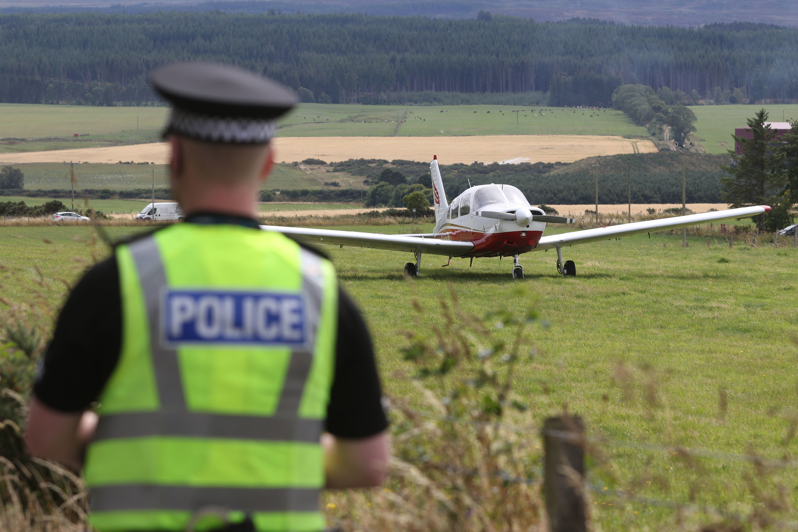 A light aircraft landed in a field a few miles from Inverness Airport. Picture by Andrew Smith