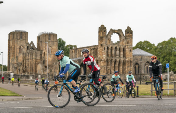Cyclists taking part in last year's Ride the North