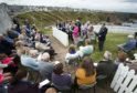 Portknockie Church hosted an open-air service as part of its 150th anniversary celebrations.