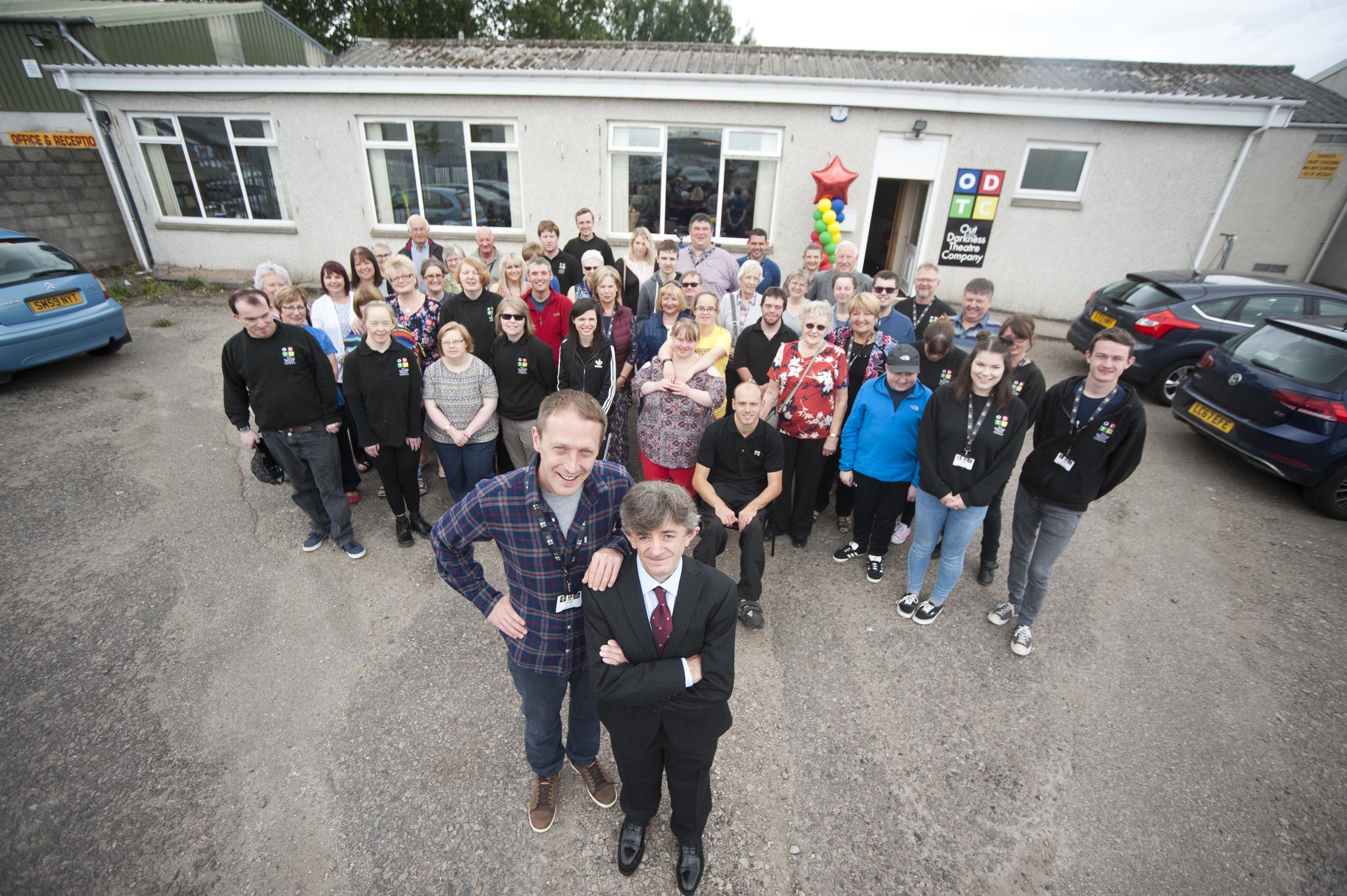 Out of the Darkness Theatre Company in Elgin celebrate opening their new premises.