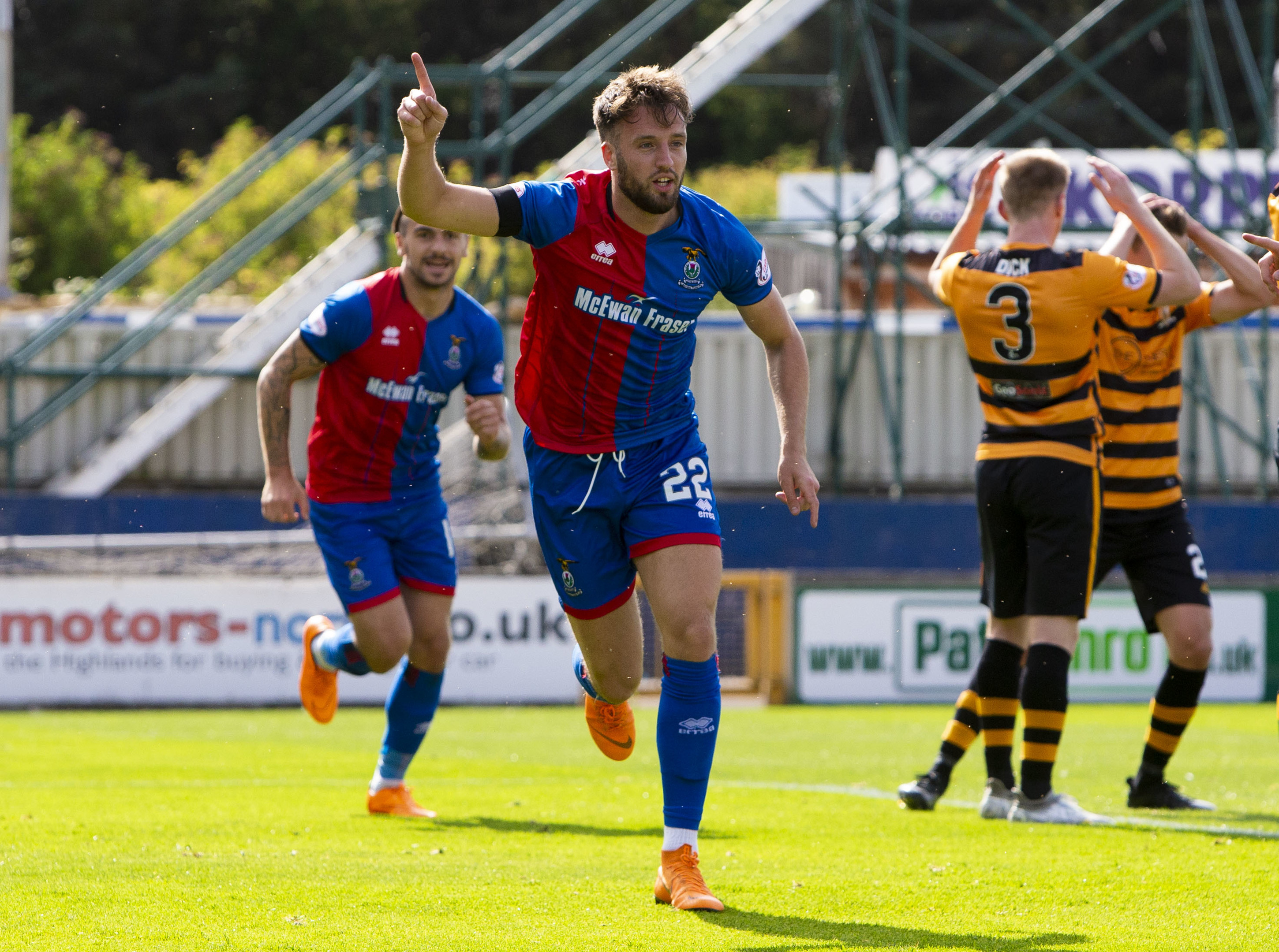 Caley Thistle defender Brad Mckay.