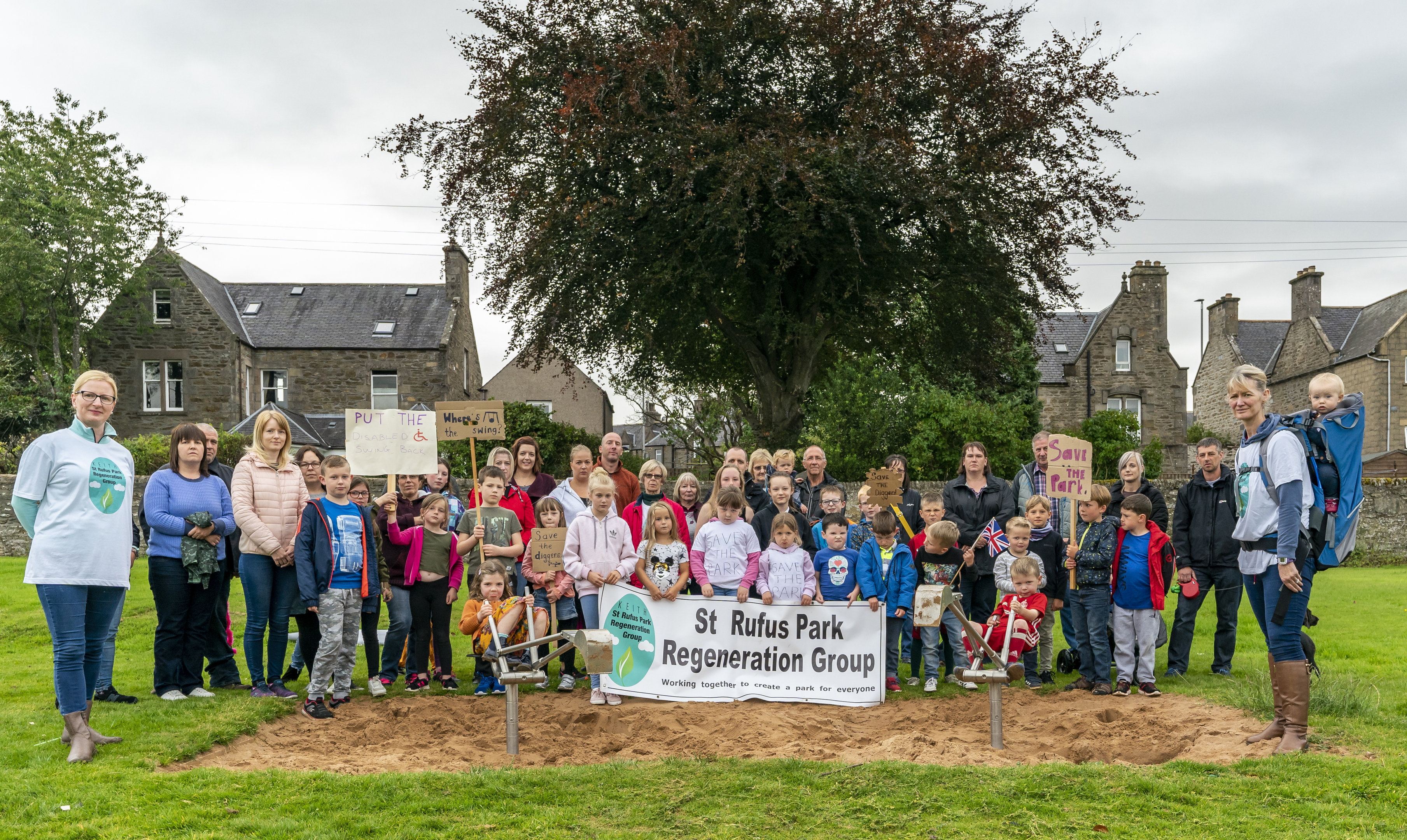 This is an image of the demonstration by the St Rufus Park Regeneration Group from Keith.