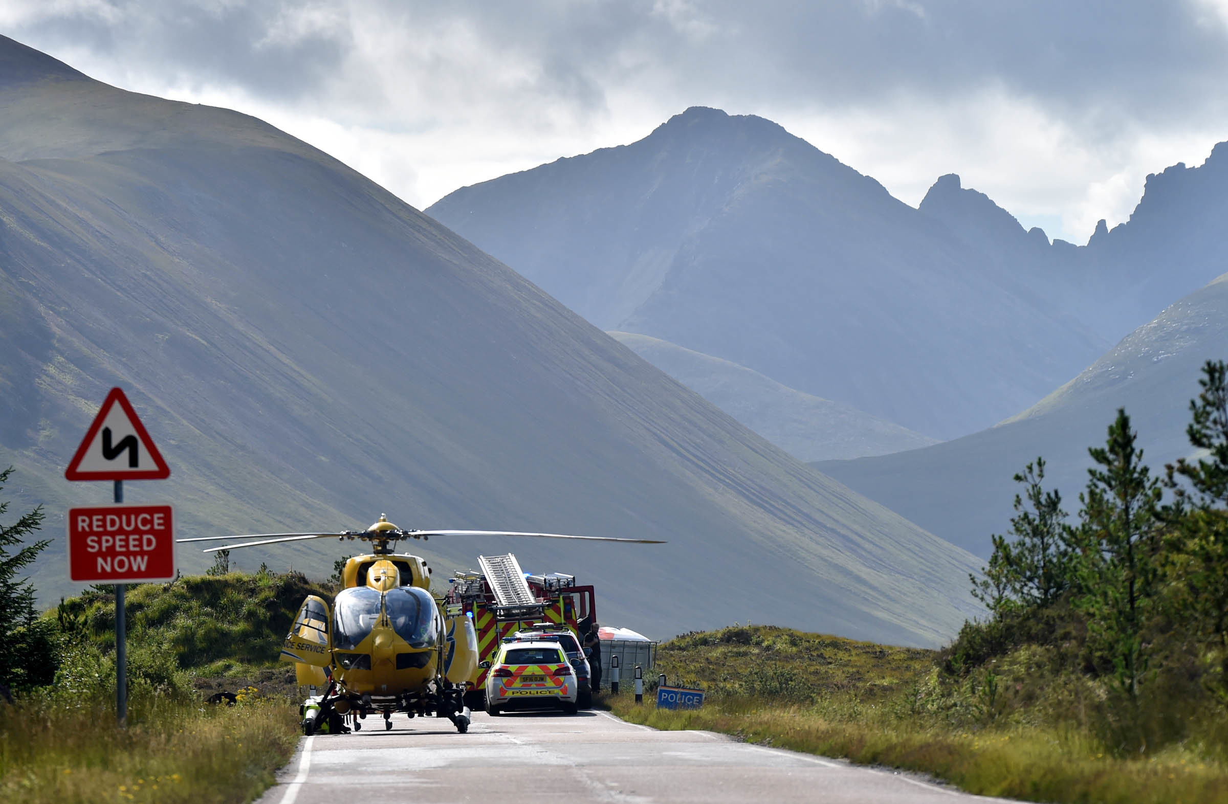 The incident took place on the A87 around two miles north of Sligachan, Photo by Iain Smith