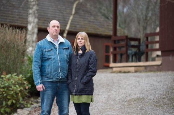 Simon and Michelle Giles run Tullochwood Lodges, near Rafford.