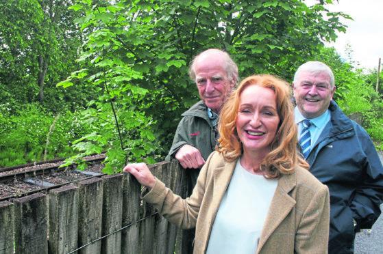 Councillor Fiona Robertson, Kiltearn Community Council chairman Hector Munro, and councillor Mike Finlayson.