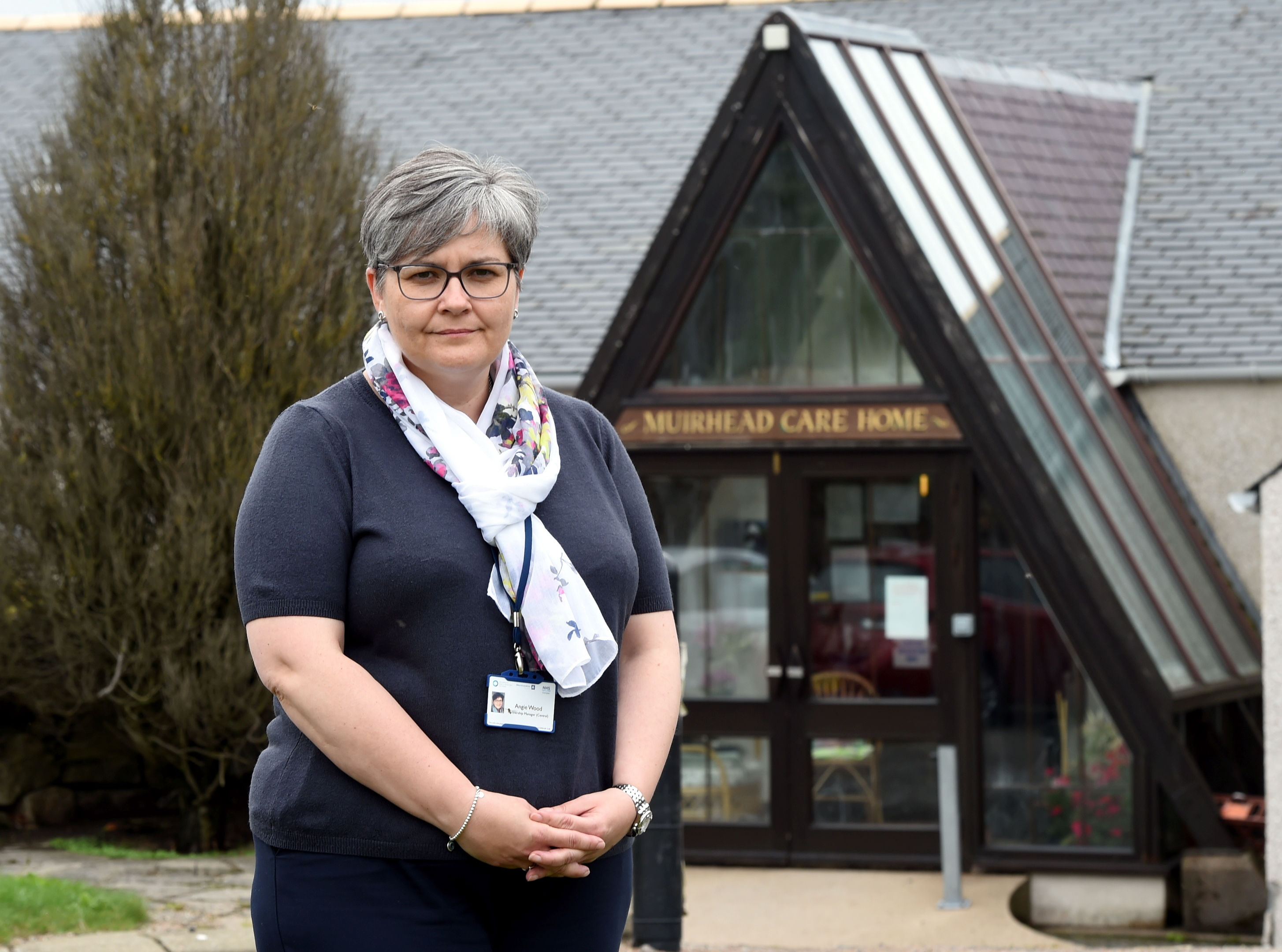 Angie Wood, partnership manager, at Muirhead nursing home. Picture by Jim Irvine.
