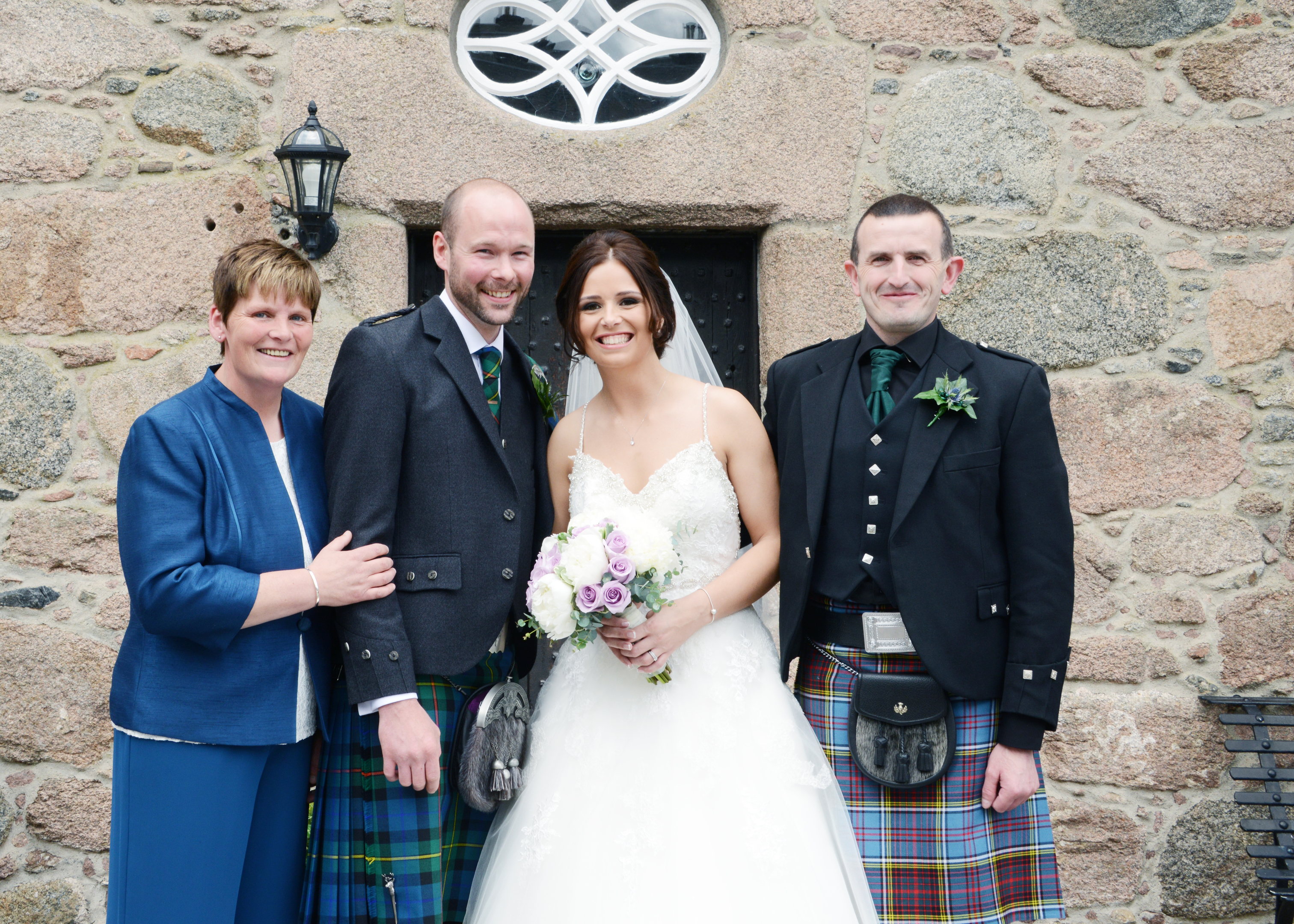 Wendy Anderson (pictured far left) at her daughter's wedding in 2016
