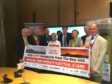 Save Bennachie campaigners met with Michael Matheson MSP to discuss the controversial A96 dualling proposals.