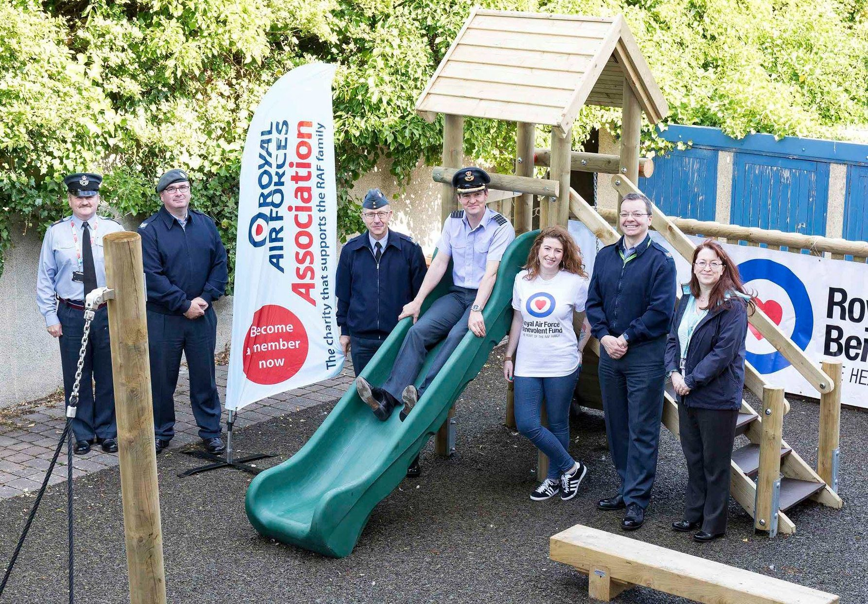 The refurbishment of the play area at the Station's welfare properties.
