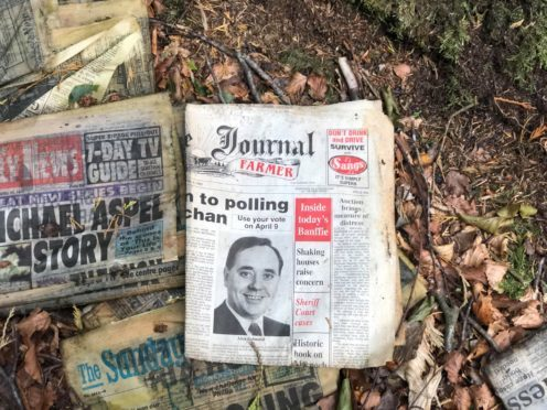 A younger looking Alex Salmond appearing on a copy of the Press and Journal from 1992