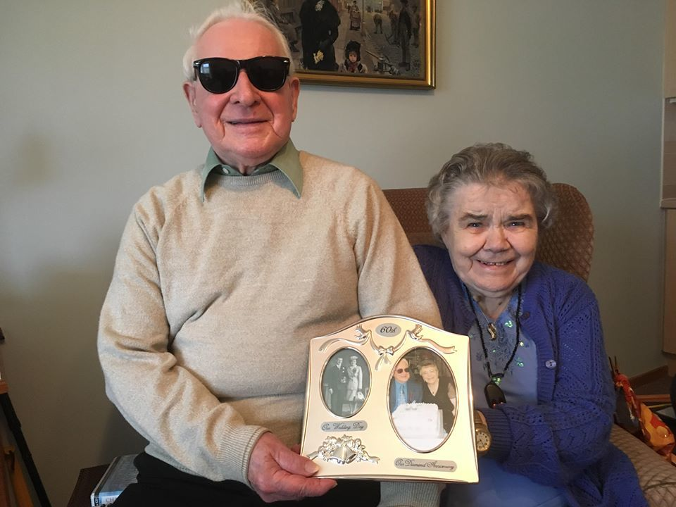 Lenny and Jane Baxter celebrate their 70th anniversary