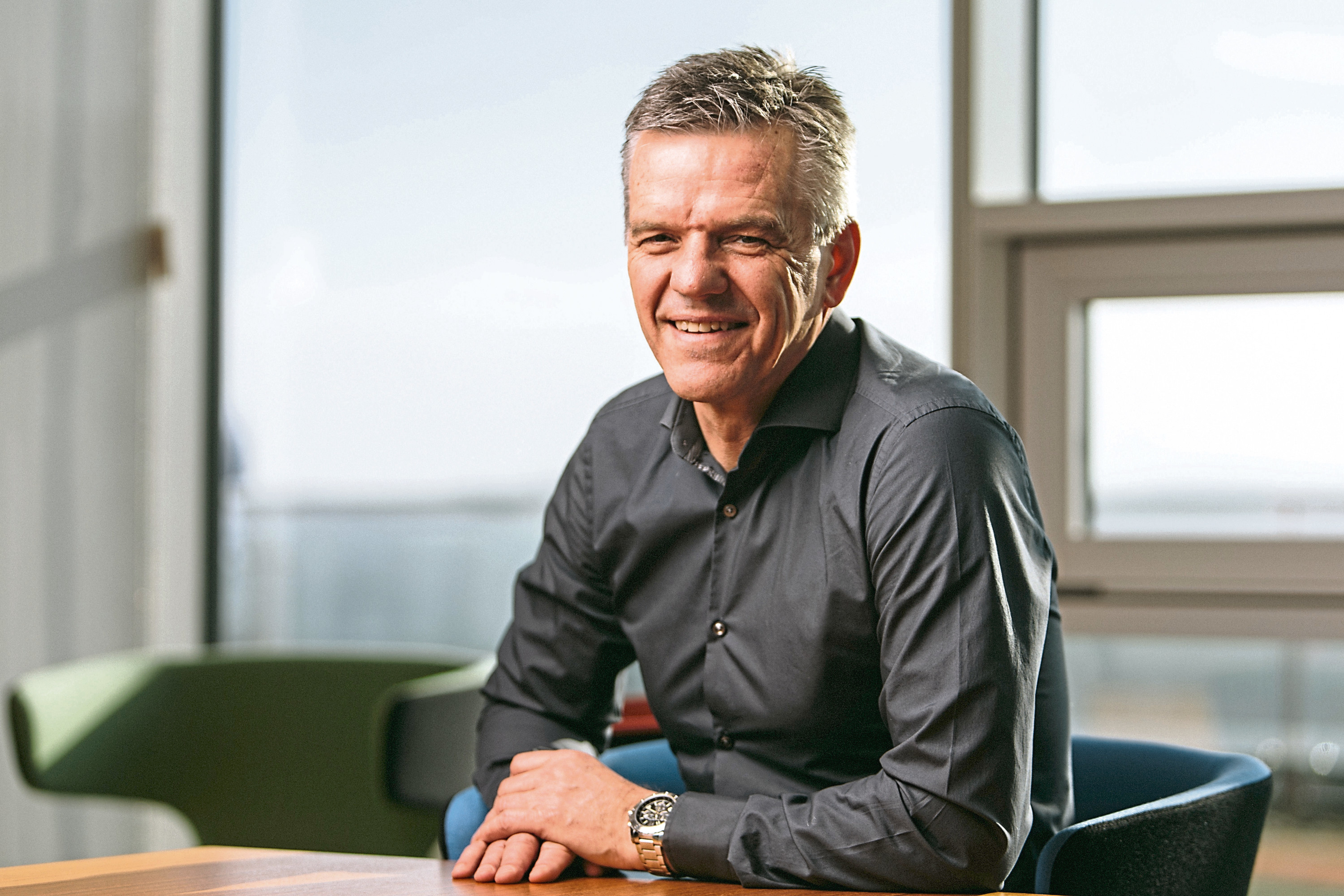 Wednesday 15th February 2017, Aberdeen, Scotland.  Chris Cox was appointed Managing Director, Exploration & Production on 1 February 2016.  Chris has over 30 years extensive experience in global oil and gas upstream activities with deep knowledge of a broad range of disciplines.  Since 2006 and prior to his appointment with Centrica, he held a number of senior roles at BG Group plc and was latterly the executive vice president, BG Advance and a member of the group executive team.  Before BG Group plc, Chris was with both Amerada Hess and Chevron Corporation in a variety of technical, commercial and management roles in a number of international settings.  Pictured: Chris Cox, Managing Director, Exploration & Production Centrica  (Photo: Ross Johnston/Newsline Media)